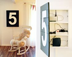 Hide those unsightly routers and cords.