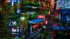 不思議な雑居のある街をお絵描きしました、何故かジブリのアニメの世界観のある絵に仕上り、この中に飛び込んで生活してみたくなります。  Huaska - Avoar http://youtu.be/jj-lozhkjnY