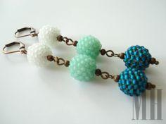 Komplet biżuterii w kolorach morza   MH Biżuteria - cuda ręcznie wykonane