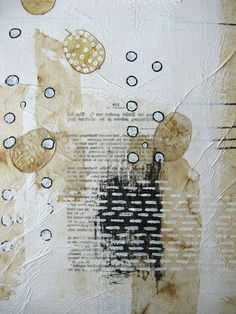 mixed media painting original. only one thing to do by ancagray