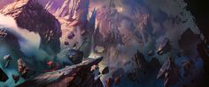 Concept Arts de Daryl Mandryk para o game Darksiders 3 Android Jones, Anna Cattish, Mary Blair, Fantasy Art Landscapes, Fantasy Landscape, Pretty Landscapes, Frank Frazetta, Wall E, Places