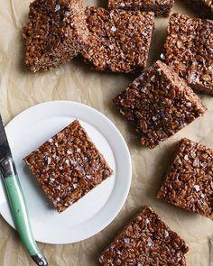Double Chocolate Rice Treats via @feedfeed on https://thefeedfeed.com/dessertfortwo/double-chocolate-rice-treats