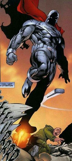 Comic Book Characters, Comic Book Heroes, Comic Character, Comic Books Art, Comic Art, Steel Dc, Man Of Steel, Iron Steel, Superman Family