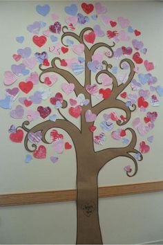 Valentine Tree (bulletin board)-- Jesus + You =