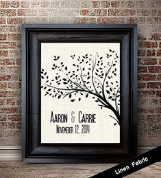 Personalized Cotton Anniversary Gift For Her Anniversary Gift For Wife 2 Year Anniversary Gifts for Women Cotton Fabric Print Tree Print *** Click image for even more information. (This is an affiliate link). 12 Year Anniversary Gifts, Cotton Anniversary Gifts, Anniversary Gift For Her, Anniversary Ideas, Personalised Gifts Unique, Personalized Wedding Gifts, Goddaughter Gifts, Tree Print, Gifts For Wedding Party