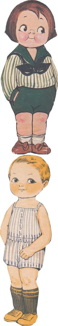 Paper Dolls - look the Campbell Kid look of this one
