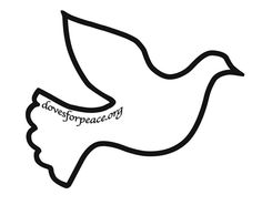 Dove pattern. Use the printable outline for crafts, creating ...