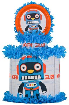 World of Pinatas - Robot 3.0 Pinata add your own personalization, $39.99 (http://www.worldofpinatas.com/robot-3-0-pinata/)