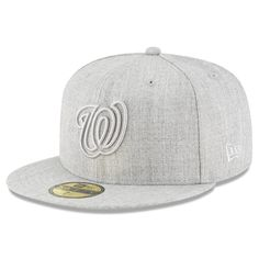 Men s Washington Nationals New Era Gray Twisted Frame 59FIFTY Fitted Hat bbb68cc8c53