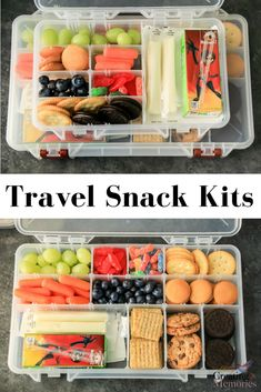 [AD] Make traveling easier! Try these easy DIY road trip snack box kit ideas for kids, toddlers, teens, and adults! Filled with the best cheap snacks for the whole family, when you have a long drive in the car ahead. Filled with Fruit, sweets, crackers and all kinds of fun treats to make your vacations stress free.  #SnackNShare #IC
