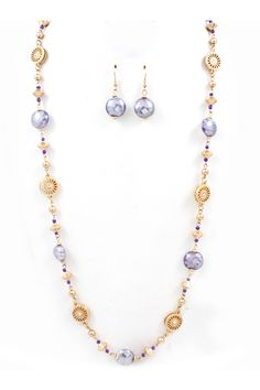 Murano Glass Collin Necklace in Lavender on Emma Stine Limited