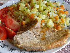 Recepty - Celkově.cz - foto - Pečené vepřové maso se zeleninovými bramborami