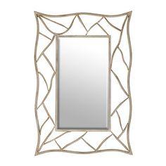 Boulder Distressed White Framed Mirror, 28x41