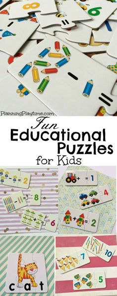 Awesome Educational Puzzles for kids - Enter to WIN 3 sets of puzzles.