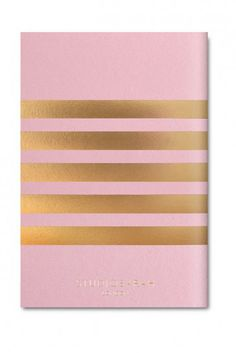 Studio Sarah London Pocket Stripe Notebook - Candy Pink – Home Apparel