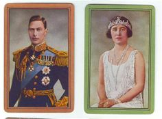 Playing Cards  King George VI Queen Elizabeth