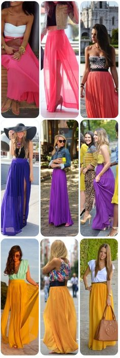 Shine Bright With a Colorful Maxi Skirt
