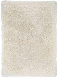 Hochflor Teppich Lea Weiß