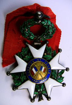 French Legion of Honor medal circa 1905.