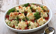 lindastuhaug - lidenskap for sunn mat og trening Cauliflower, Food And Drink, Bacon, Vegetables, Oil, Blogging, Cauliflowers, Vegetable Recipes, Cucumber