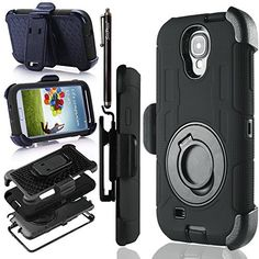 Galaxy S4 Case, S4 Case - BDKase- Shockproof Rugged Hybrid Samsung Galaxy S4 Case with Belt Clip Holster Kickstand (Rugged-black/black) BDKase http://www.amazon.com/dp/B00TPRZL7Q/ref=cm_sw_r_pi_dp_7tPkvb1P3DKQB