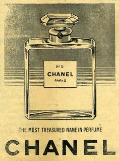 Retro Vintage 1958 Chanel vintage advertisement - These adverts are scans from the 1958 Christmas Day edition of the Times of Cyprus newspaper, when advertising was alot less sophisticated! Although this advert still looks a classic to this day.