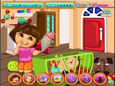 Dora The Explorer Games - Dora The Babysitter Slacking
