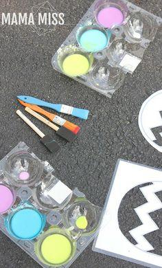 Homemade Sidewalk Chalk Paint