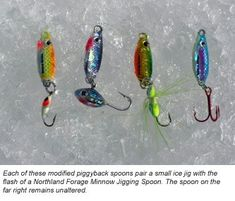 Ice fishing lure mods