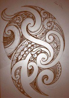Koru Tattoo, Maori Tattoos, Maori Tattoo Frau, Tattoo Motive, Body Art Tattoos, Tattoo Drawings, Sleeve Tattoos, Borneo Tattoos, Thai Tattoo