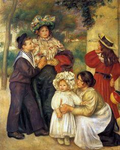 1896 'The Artist's Family' by Pierre-Auguste Renoir (1841-1919) The Barnes Foundation, Philadelphia, Pennsylvania, United States. https://www.facebook.com/Fashionisinlove