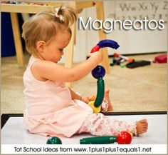 Magnetic toys while sitting on magnetic surface