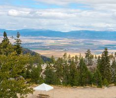 Look out at the Carson Valley in Nevada, US from the Tahoe Summit Village, Stateline NV