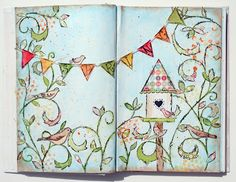 Paperlicious Designs: MIXED MEDIA / ART JOURNAL PROJECT melissa waldorf