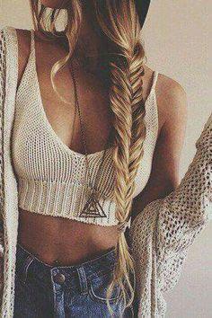 US Women's Sexy Boho Beach Bikini Crochet Bralette Tassel Bra Crop Top Cami Tank Hippie Look, Mode Hippie, Look Boho, Look Fashion, Teen Fashion, Fashion Beauty, Fashion Trends, Fashion Hair, Modern Hippie Fashion