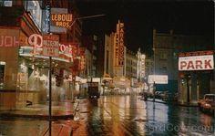 Theatre District at Night Boston Massachusetts