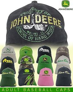 #Assorted john deere #baseball caps - adult size - many #styles/colours,  View more on the LINK: http://www.zeppy.io/product/gb/2/252696529805/