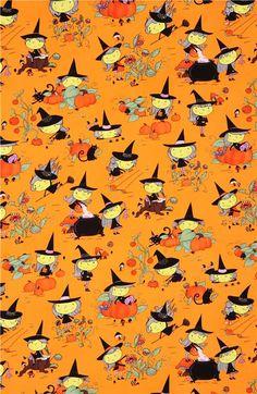Halloween fabric Alexander Henry Gwendolyn Goodwitch