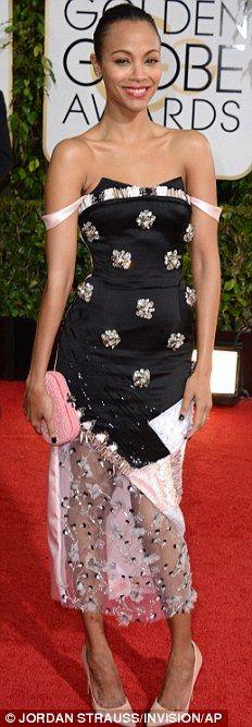 Zoe Saldana at Golden Globes