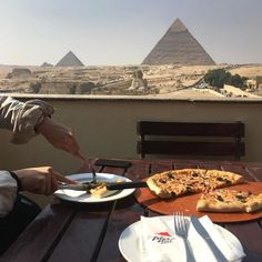 What on earth?! Pizza Hut and Pyramids?!! Huh?