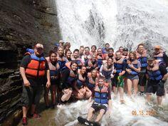 Dan Meade & his students from Avoca HS enjoying Wolf Creek Waterfalls - 05/15/14  adventure-calls.com
