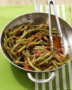 Green Beans with Tomatoes Recipe