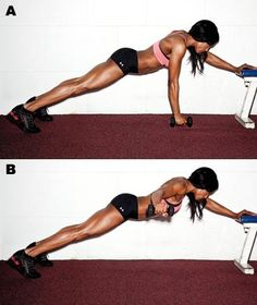 Side Plank T Raise--an advanced move for your arms and core! Uhh maybe someday, I may bust my face trying that right now