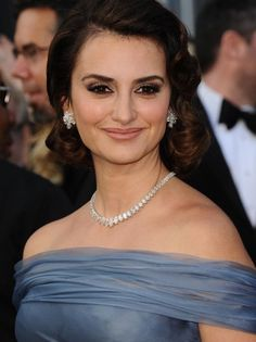 Penelope Cruz - With Diamond Necklace & Earrings to Match  Call 812 476 5122  Evansville, Indiana