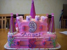 Coolest Castle Birthday Cake Castle birthday cakes Square cake