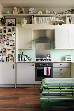 Interior designer Beata Heuman made imaginative use of limited funds in her compact west London flat. Her secret for this small kitchen?