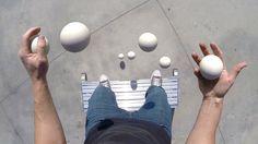 Bronkar Lee jongliert 7 Bälle und macht die Beatbox dazu – und die GoPro ist auch am Start!