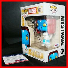 The certificate can also be looked up on their online database. Marvel Mystique, Funko Pop with Certificate of Authenticity. Rebecca Romijn, Marvel X, X Men, Funko Pop, Signs, Authenticity, Certificate, Ebay, Shop Signs