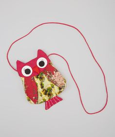 A LILY KIDS PURSE FOR LILI!!!Love this Hot Pink Patchwork Small Owl Shoulder Bag on #zulily! #zulilyfinds