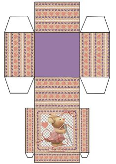 Printable sewing mouse box